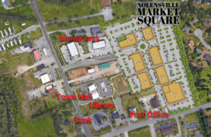 Nolensville Market Square on Satelite Photo